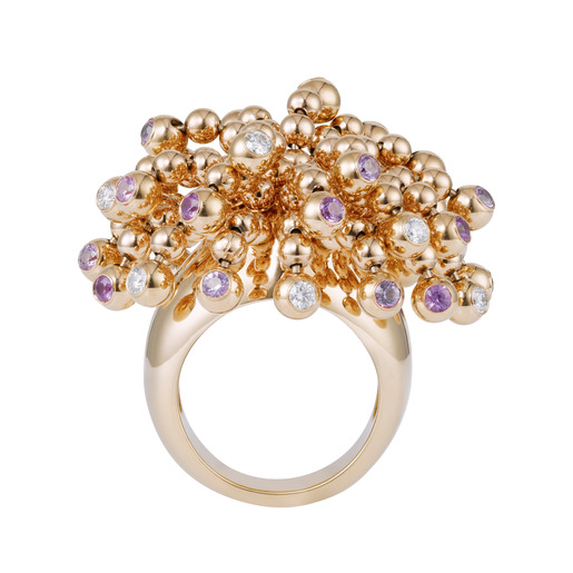 1 - Ring Pink gold, pink sapphires, diamonds