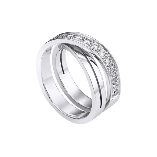 1 - ring White gold, diamonds
