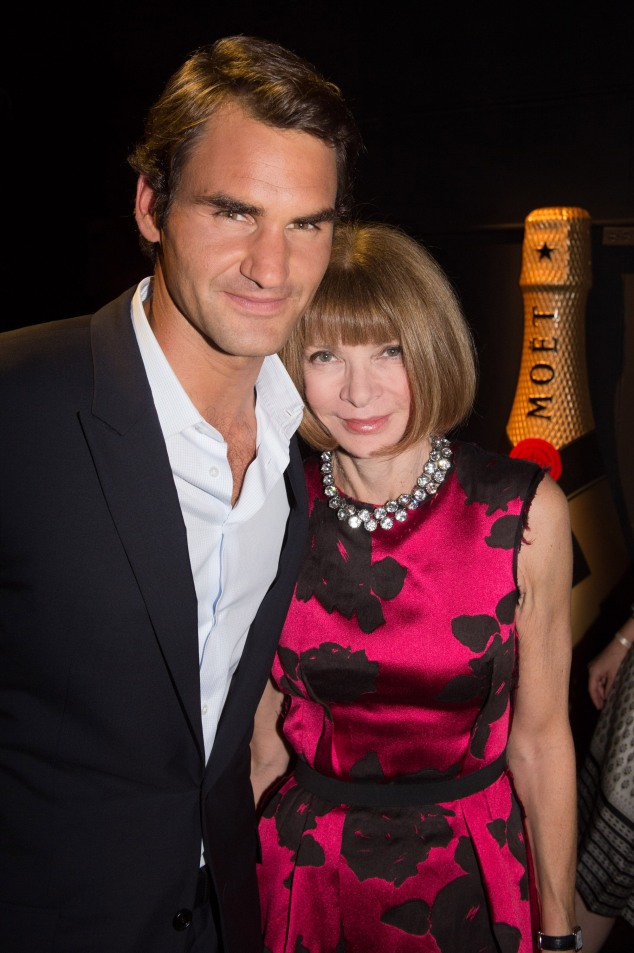 Roger Federer & Anna Wintour