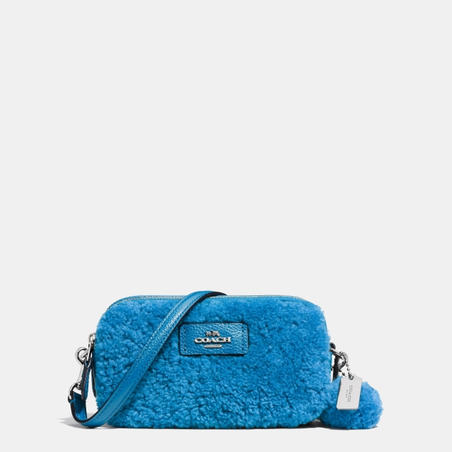 53551 Coach Shearling Crossbody Pouch Marshmallow 135GBP Peacock