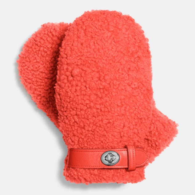 85986_Coach Sheepskin Mittens 275GBP_Orange