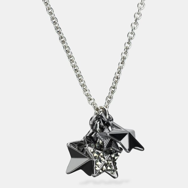 _90842 Pave Metal Stars Charm Necklace 105GBP - uk.coach.com